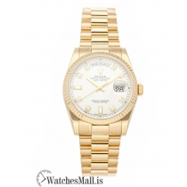 Rolex Replica Day-Date White Dial Gold Case 36mm 118238