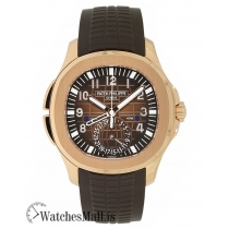 Patek Philippe Replica Aquanaut Rose Gold Travel Time 40MM Watch 5164R001