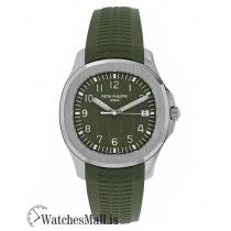 Patek Philippe Replica Aquanaut White Gold Jumbo Khaki Green 42MM Watch 5168G010