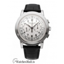 Patek Philippe Replica Complications White Gold Chronograph 42MM Watch 5070G001