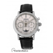 Patek Philippe Replica Grand Complications Platinum Perpetual 40MM Watch 5204P010