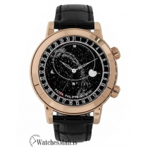 Patek Philippe Replica Grand ComplicationsRose Gold Black Celestial Moon Age 44mm Watch 6102R001