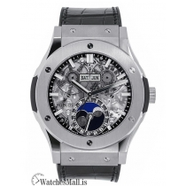 Hublot Replica Classic Fusion Aero Fusion Titanium Moonphase 45MM Watch 517.NX.0170.LR