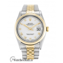 Rolex Datejust Replica Automatic White Roman Numeral Diamond Dial 16233 36MM