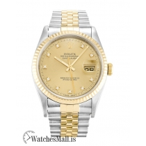 Rolex Datejust Replica Automatic Champagne Diamond 16233 36MM