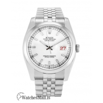 Rolex Datejust Replica White Dial Steel  Case Automatic 116200 36MM