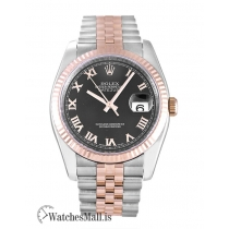 Rolex Datejust Replica Black Roman Numeral Dial  116231 36MM