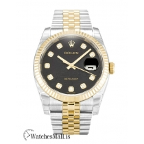 Rolex Datejust Replica Black Jubilee Diamond Dial 116233 36MM