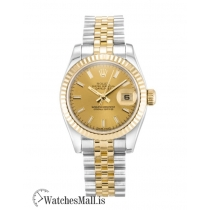 Rolex Datejust Replica Automatic Champagne Baton Lady 179173 26MM
