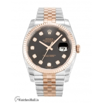 Rolex Datejust Replica Automatic Black Diamond Dial 116231 36MM