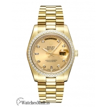Rolex Day Date Replica Automatic Full Gold Diamond Bezel President 228348