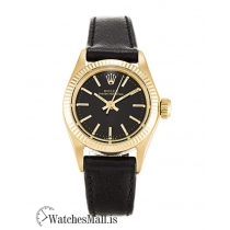 Rolex Lady Oyster Perpetual Replica Black Baton 6718 26MM