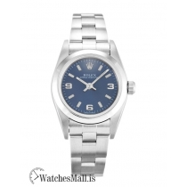 Rolex Lady Oyster Perpetual Replica Blue Quarter Arabic 76080 24MM