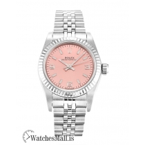 Rolex Lady Oyster Perpetual Replica Salmon Quarter Arabic 76094 26MM