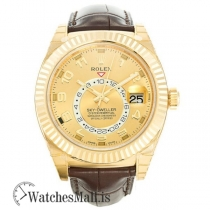 Rolex Sky-Dweller Gold 326138 Automatic Gold Plated 316 Grade Stainless Steel 42MM