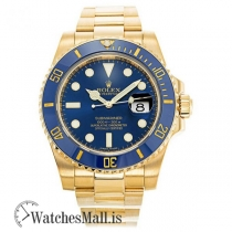 Rolex Submariner Blue Dial Gold 116618LB Automatic Gold Plated 316 Grade Stainless Steel 40MM