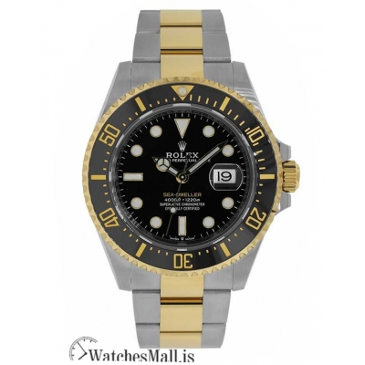 Rolex Sea-DwellerTwo Tone Stainless-Steel Black Dial 43MM Watch 126603