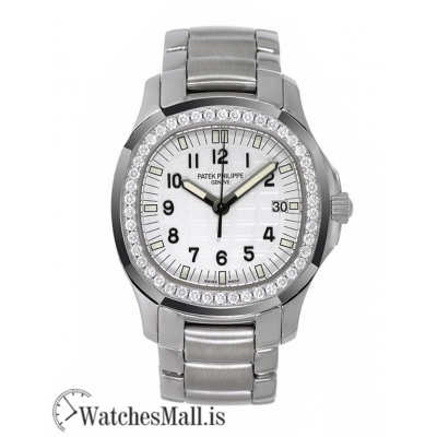 Patek Philippe Replica Aquanaut Stainless-Steel Diamond White Dial 35MM Watch 50871A010