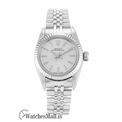 Rolex Lady Oyster Perpetual Replica Silver Baton  67194 24MM