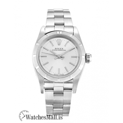Rolex Lady Oyster Perpetual Replica Silver Baton 67230 26MM