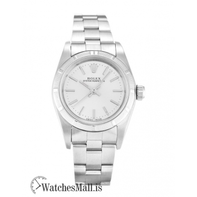 Rolex Lady Oyster Perpetual 76030 Automatic Silver Baton 26MM
