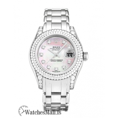 Rolex Pearlmaster Replica Ladies Mother of Pearl Pink – Diamond 80359 29MM