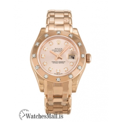 Rolex Pearlmaster Replica Automatic Rose Diamond 80315 29MM