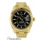 Rolex Replica Sky-DwellerYellow Gold Black Index Dial Dual Time Zone 42MM Watch 326938
