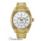 Rolex Replica Sky-Dweller Yellow Gold White Index Dial Dual Time Zone 42MM Watch 3269381
