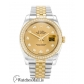 Rolex Datejust Replica Steel & Yellow Gold set with Diamonds Case  116243 36MM