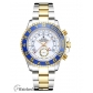 Rolex Yacht Master Replica Two Tone Blue Ceramic Bezel 44MM ETA Version-1/4 Rotating Bezel 116681